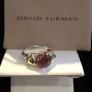 David Yurman18K/Ster Pink Tourmaline Capri Ring